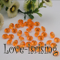 Wholesale 30 Off Only mm Carat Orange Diamond Confetti Acrylic Bead Weding Party Decoration