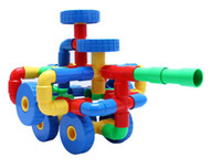 Wholesale 64 Plastic Tubes Building Blocks Building Sets Educational Toy Children s Gift