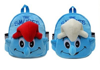 Wholesale Hot D The Smurfs Plush Backpack Child PRE School Bag and Retail