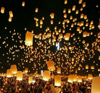 Wholesale Fire Sky Chinese Kongming Lanterns Wish Birthday Wedding Party