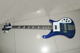 Wholesale high strings Bass guitars blue burst Electric Bass Guitar