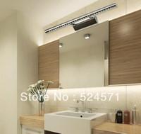 85-265V led bathroom mirror - Free shpping W LED mirror light stainless steel bathroom lamp modern brief lamp bedroom light