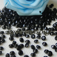 Wholesale 30 Off mm Carat Black Diamond Confetti Acrylic Bead Wedding Favors