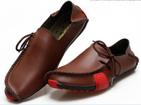 Wholesale 2013 handmade slip ons loafers fashion driving shoe walking shoes Breathable Leather shoes