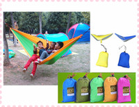Wholesale 3 in X cm Parachute Fabric Double Person Hammock Double Hammock Can Allowable KGS Out Door Necessary