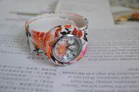 Wholesale Fashion Flower Band Tape Slap Snap on jelly Wrist Watch