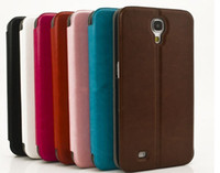 Leather For Samsung  Flip Leather Case Cover Luxury Crazy Horse Leather Stand Case w Card Slot for Samsung Galaxy Mega 6.3 i9200 New Arrival 7 colors