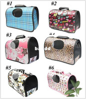 Wholesale 10 colors New Pet Dog Cat Travel Carrier Tote Bag Crate Airline Fet Products Comfort S M L