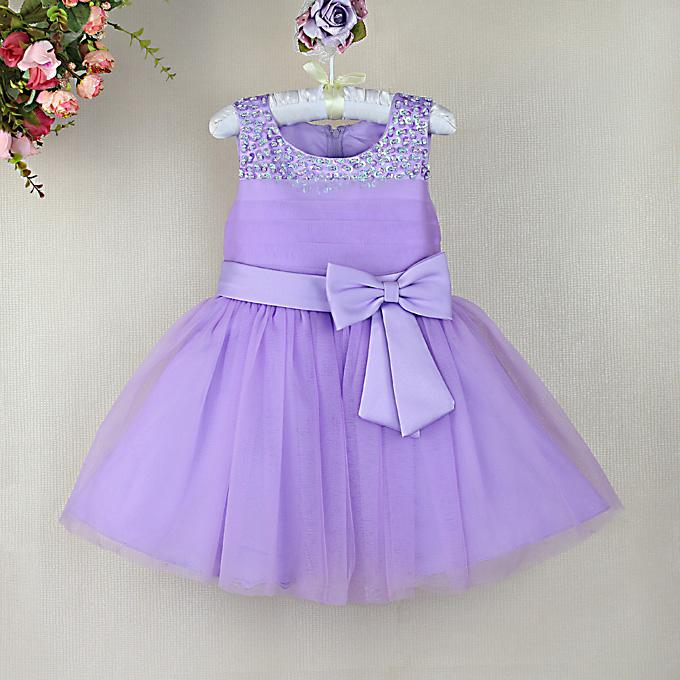 2017 2014 New Toddler Girl Dresses Purple Party Dresses