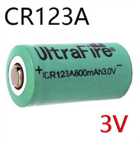 Wholesale Ultrafire CR123A V CR123a Lithium Rechargeable Battery V mah Green color