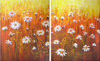 Wholesale Contemporary Oil Painting for Sale Wild Chrysanthemum Flower Wall Art Paintings on Canvas Hand Painted Artwork for Wall Decoration Unframed
