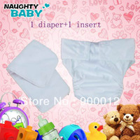 Wholesale White Color Waterproof Adult cloth diaper Nappy nappies double snaps diapers nappy pc insert