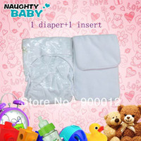 Wholesale White Color Waterproof Adult cloth diaper Nappy nappies double snaps diapers pc pc micorfiber insert