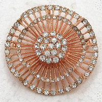 Wholesale Clear Crystal Rhinestone Rose Gold Plated Bridesmaid Wedding Flower Pin Brooch amp Pendant C2092 A5