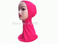 Wholesale Solid Muslim Hijab Headscarf Underscarf Inner Caps Colors Mix Order New Arrival S18