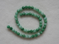 Wholesale Brand New mm Green Jade Round Loose Beads inch