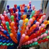 Wholesale 200pc Screw Balloon Spiral Balloons Wedding Birthday Party Christmas Kids toys G