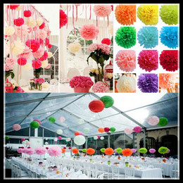 Hot Selling 15cm Paper Flower Ball for Wedding Supplies with 13 different colors Beautiful Party decorations simulation artificial flowers