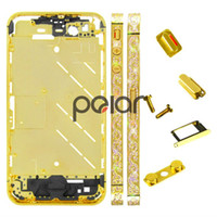 Wholesale Diamond Metal Middle Frame Chassis Housing Plate Bezel Frame Panel with Side Button for iPhone AF130