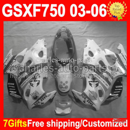 Wholesale 7gifts For SUZUKI KATANA GSX750F Scorpion GSXF GSX F CM1391 GSXF750 Grey White Fairing Kit