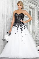 2013 Hot A Line Wedding Dresses Sweetheart Organza Black App...