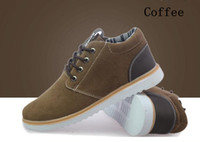 Wholesale New Arrival Men Nubuck Leather Hot Winter Shoes Fashion Casual Lace Up Low Heel Solid Color Sneakers Colors CJ7