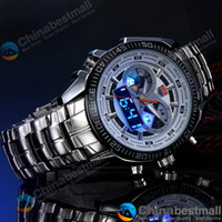 Fashion sport watch - Hot TVG Men s Sport Watch Fashion LED Analog Dive Watch for Men Dual Movements Waterproof Chinabestmall