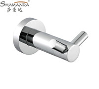 bathroom construction - Double Robe Hook Clothes Hook Solid Brass Construction with Chrome finish Bathroom Hardware