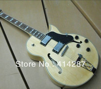 Wholesale hot sales cutaway archtop jazz electric guitar natural color