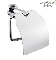 Wholesale Paper Holder Roll Holder Tissue Holder with cover Solid Brass Construction Chrome Finish