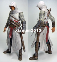 White,Black,Gray action figures assassins creed - Hot selling Promotion New Assassin Creed I Altair Player PVC Action Figures Toy gift for children inch
