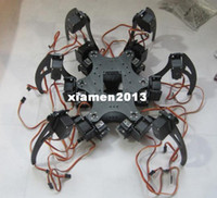 Black aluminium leg - Aluminium Hexapod Spider Six DOF Legs Robot Frame Kit Fully Compatible with Arduino