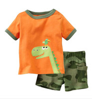 12M,18M,24M,3T.4T.5T bean shorts - jumping beans dino boys suit children s clothing sets t shirts baby suits cotton t shirt kids shorts outfits tshirts pants M1669