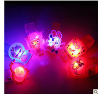 Wholesale Flash wrist band LED lovely glow bracelet watch our birthday present Halloween party supplies
