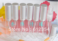 Wholesale 100PCS ML Glass Perfume Bottle Transparent Bottle Atomizer Sprayer China Post Air
