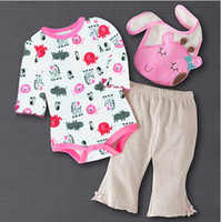 Boy baby body boy - 2013 baby body suit rompers suits bibs pants toddler tops bodysuit cotton outfits trousers overalls newborn three piece sets W99