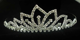 pageant tiaras crown bridal hair accessories high quality synthetic diamond crown fork comb Lightning delivery
