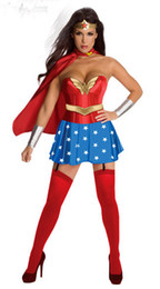Wholesale 2013 Adult Sexy Super Wonder Woman Superwoman Hero Justice League Avenger Halloween Fancy Cosplay Dress Costume