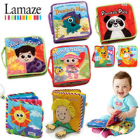 Wholesale Promotion price typels Lamaze baby cloth stereo touch books early education toy