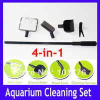 Wholesale Mini cleaning set for fish bowl with fish net MOQ
