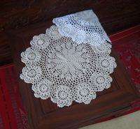 Wholesale cotton hand made crochet doily lace cup mat vase mat coaster x40cm table mat customization