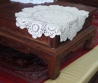 Wholesale cotton hand made crochet doily lace cup mat vase mat coaster x40cm table mat customization