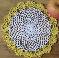 Wholesale cotton handmade crochet doily lace cup mat vase mat coaster quot cm table mat customization TM019B