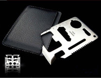Wholesale Hunting Survival Kit Pocket Credit Card Knife Tool Army marine military multi KnifeYC0005