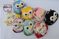Wholesale 2013 Hot New Arrival Owl style small Portable Wallet Multifunction coin purse free sh