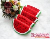 as photo Cartoon Cotton Fabric Hot Sale Watermelon Plush Mobile phone bags Portable Wallet Cosmetic Bag Coin Purse Pencil Case Wholesale Fashion Gift