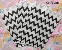 Wholesale colors party Striped chevron and Polka Dot Kraft Paper treat bags