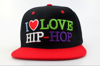 Wholesale TOP Beatiful Hat I Love HIP HOP Snapback hats Sports Caps Ball Teams Snapback Caps Brand New Hats Team Snapbacks basketball snapback hats