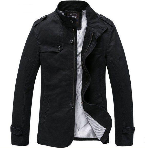 Modern Men's Jacket Men Coat Leisure Jacket Lapel Collar ...