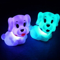 Animal light ornaments - high quality PVC Little Dog LED light bedroom ornament prom party decoration toy doll night light